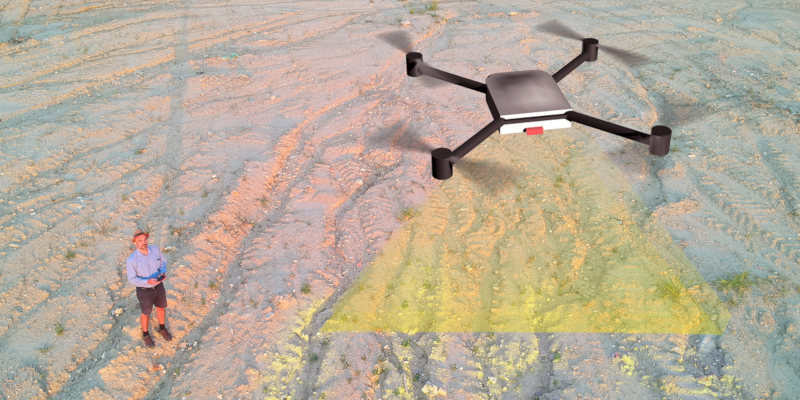 drones were used was in the field of aerial survey